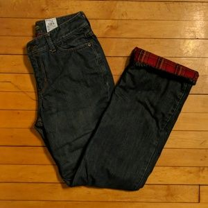 Eddie Bauer Flannel Lined Boot Cut Jeans Sz 2